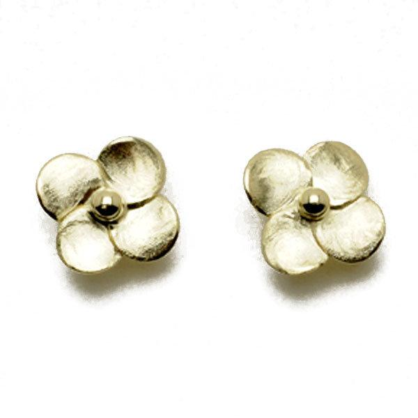 Sheila Fajl - Flower Stud Earrings - Brushed Gold