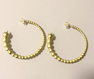 Sheila Fajl - Small Crescent Hoops - Brushed Gold