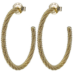 Sheila Fajl - Large Frederica Hoop - Gold Plated
