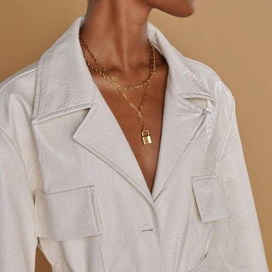 ELLIE VAIL - Alexis Lock Lariat Necklace