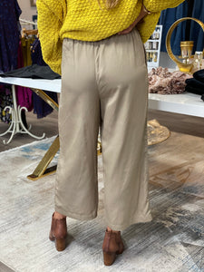 Tencel One Button Pants - Taupe