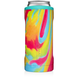 Brumate - Hopsulator Beer Cooler 12oz Slim Can | Tie Dye