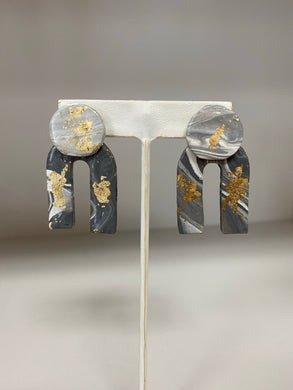 Kathryn Elaine Designs - Benjamin Earrings - Gray Mix