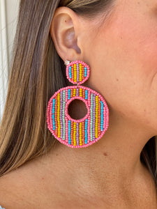 Pretty Pastel Beaded Earring