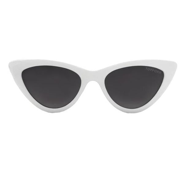 TopFoxx Sunnies - Matrix Frames - White/Smoke