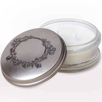 Himalayan Candles - Clear Powder Puff Pots | Honeysuckle