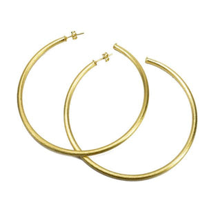 Sheila Fajl - Stella Hoop Earrings - Brushed Gold