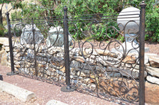 Swirl – Hand Wrought Iron Gate, Fence, Posts