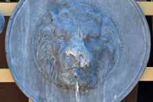 Lion Plaque Fountain Spout