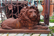 Cast Iron Lions – Pair