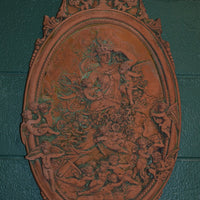 Oval Cherub Plaque