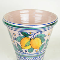 Italian Hand Painted Glazed Terra Cotta Planter-SM