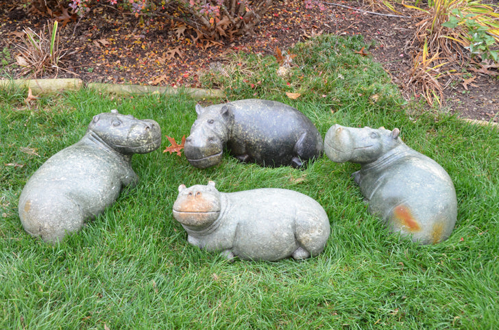 Hand Carved Hippo - African Import
