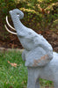 Hand Carved Grey African Elephant