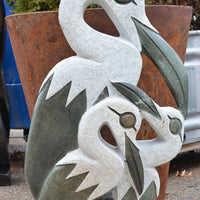 Family of Three Bird Sculpture