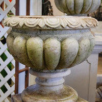 Aged Carved Marble Urn Large