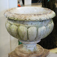 Aged Carved Marble Urn Small