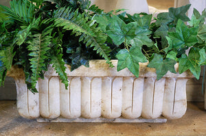 Aged Hand Carved Marble Trough Small