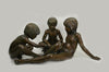 Bronze Children Playing