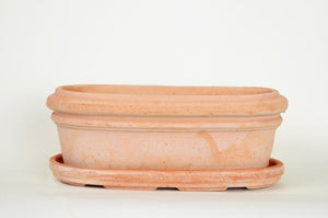 Oval Siena Mini Terra Cotta Planter W/Dish