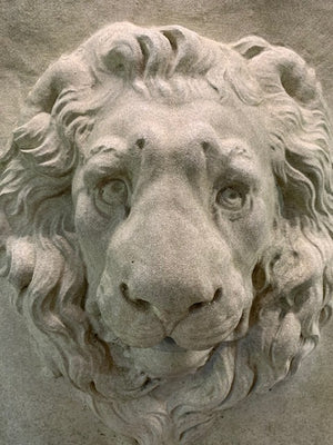 Donatello Lion Mask Fountain -2 - Aged Patina