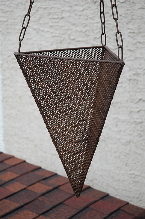Hanging Perforated Geo Planter 18""