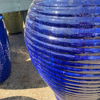 Deep Blue Curvy Jar