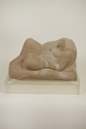 Sandstone Reclining Nude with Base - by Francis Wharton Stork