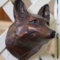 Bronze Fox Fountain Spout by John Downham - Brown Coat