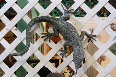 Bronze Lizard Fountain Spout by John Downham