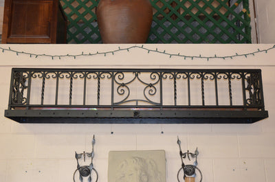 Hand Made Wrought Iron Wall Planter