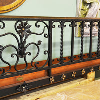 Hand Made Wrought Iron Wall Planter with Rosettes
