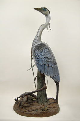 Great Blue Heron Fountain - by Jim Ponter
