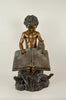 Large Boy with Book Fountain - by Jim Ponter