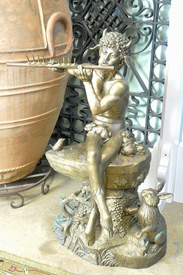 Extra Large Faun Fountain - by Jim Ponter