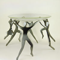 Dancing Family - Four Children - With Glass Bowl
