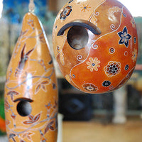 Carved Gourd Birdhouses