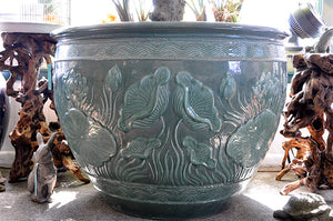 Thai Celadon Lotus Pot