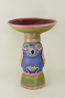 Glazed Stoneware Birdbath- SALE PRICE