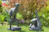 Vintage Estate Bronze Cat Sculptures - Danish Artist - Madeira Collection