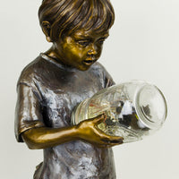 Boy with Fireflies - Small - by Marian Flahavin