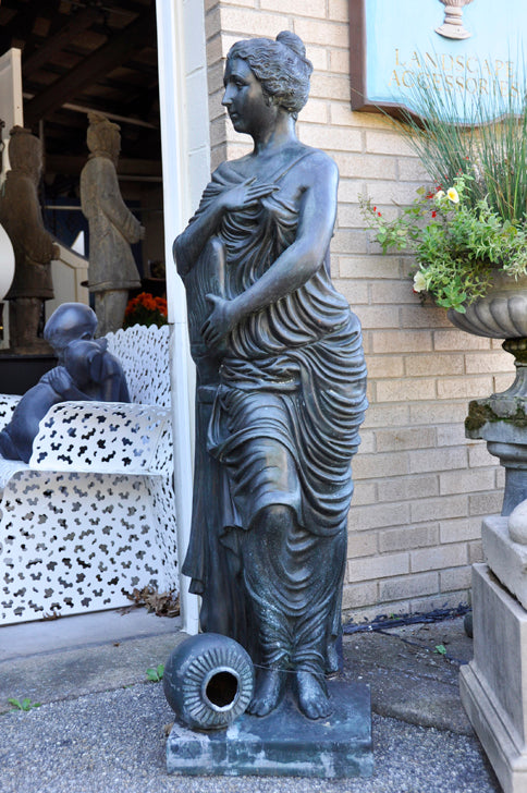 Bronze Draped Lady Fountain