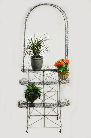 Antique Victorian Wire Plant Stand