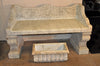 Antique Hand Carved Marble Bench