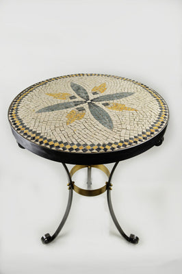 Mosaic Table On Tripod Base 21