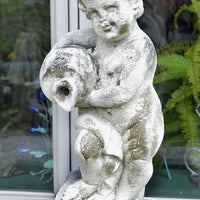Italian Carved Stone Putti Fountain Piece