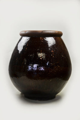 Large Pot Belly Jar - Brown