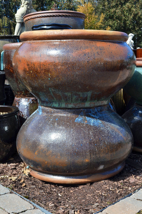 Bowl Planter with Brown Rim - Large