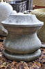 Carved Stone Reel - Pedestal - 18""