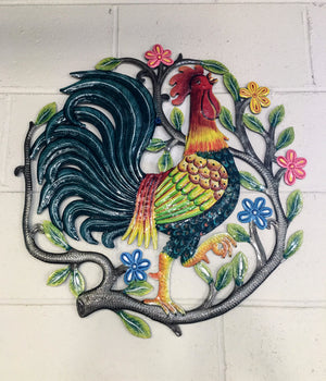 Rooster Painted Crest